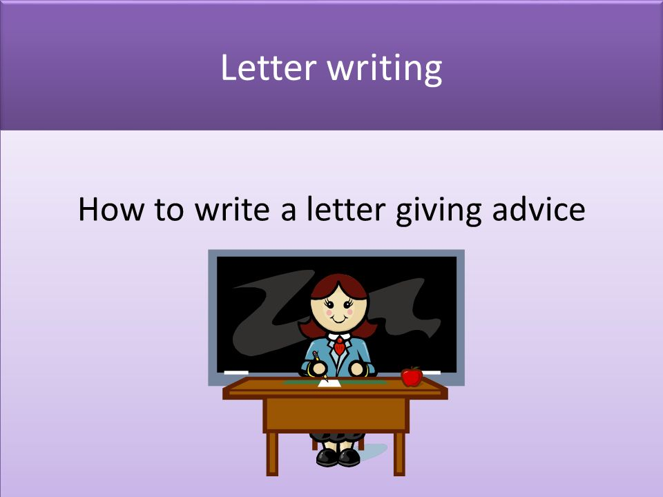 Essay about giving advice