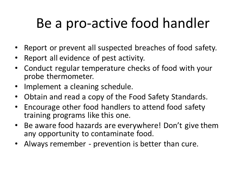 Which Act By A Food Handler Can Contaminate Food