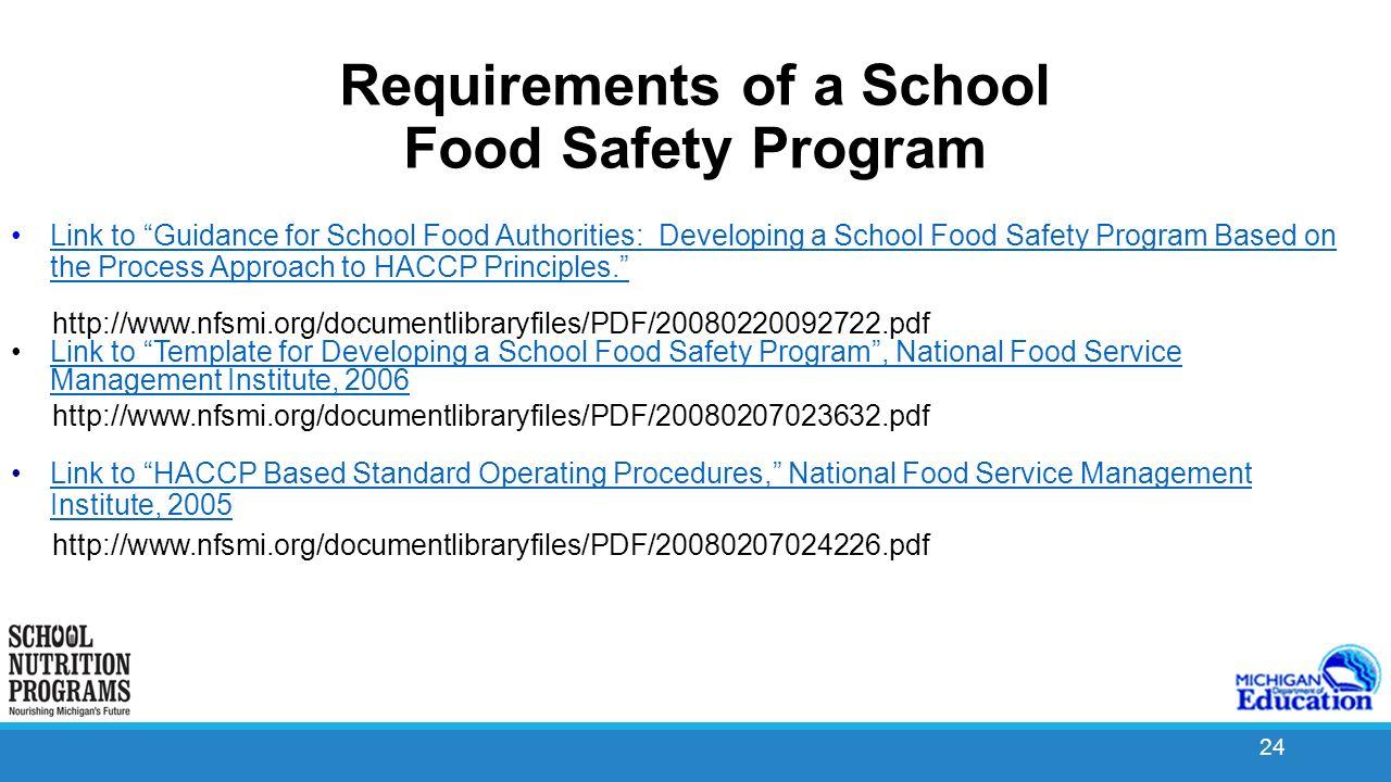 school food safety program ppt video online download. Black Bedroom Furniture Sets. Home Design Ideas