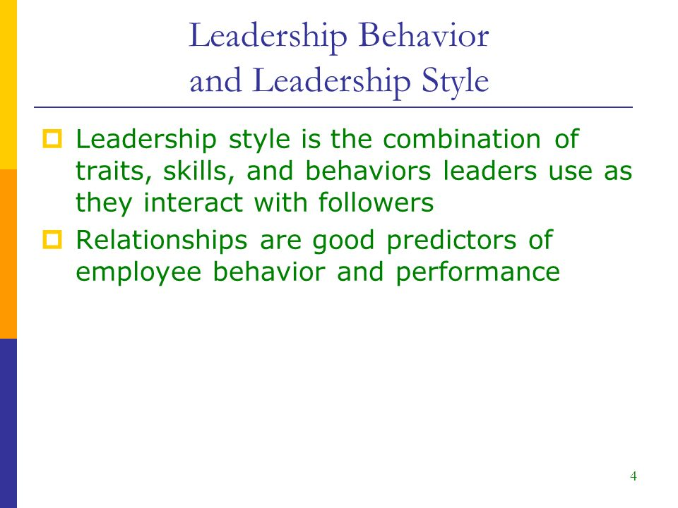 relationship oriented leadership behaviors and styles