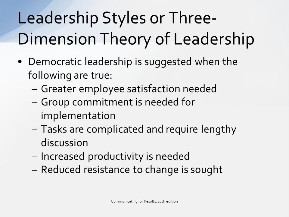 style theories of leadership Behavioral theories of leadership are classified as such because they focus on the study of specific behaviors of a leader for behavioral theorists, a leader.