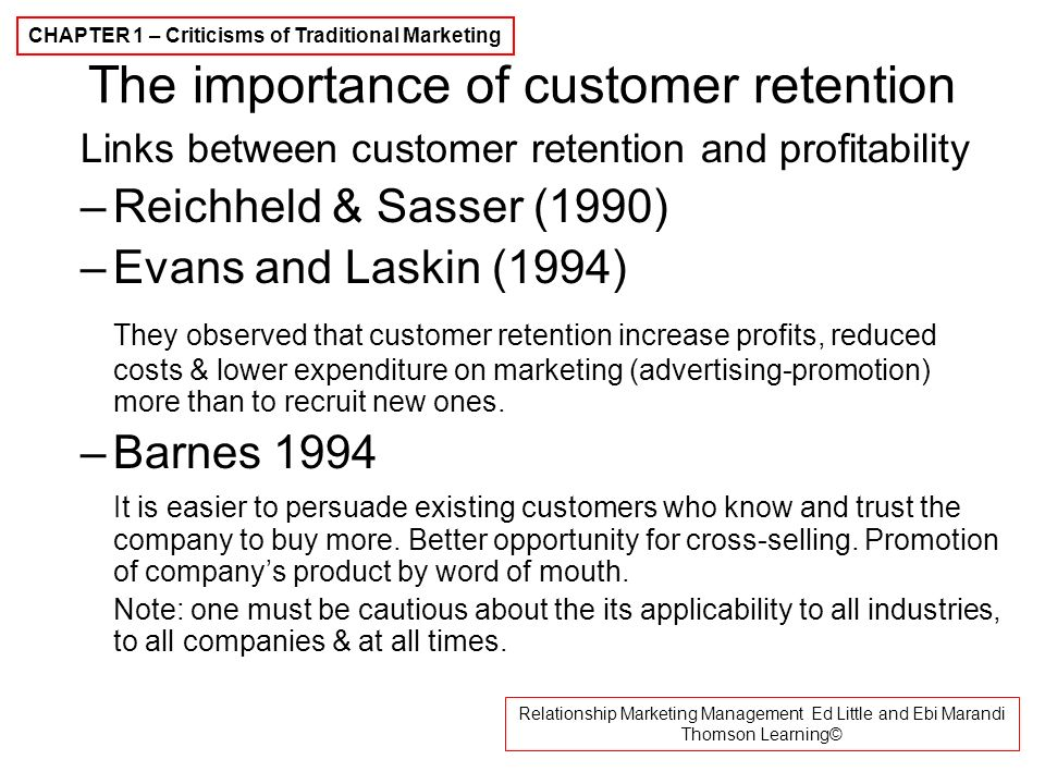 relationship between customer service and retention