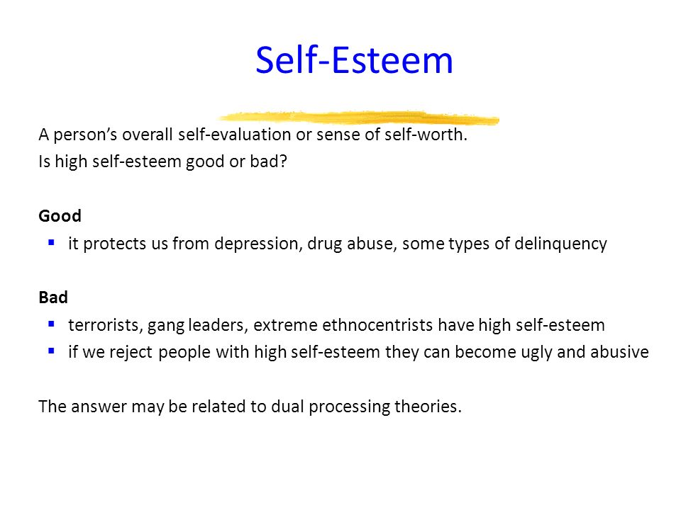 what is high self esteem pdf