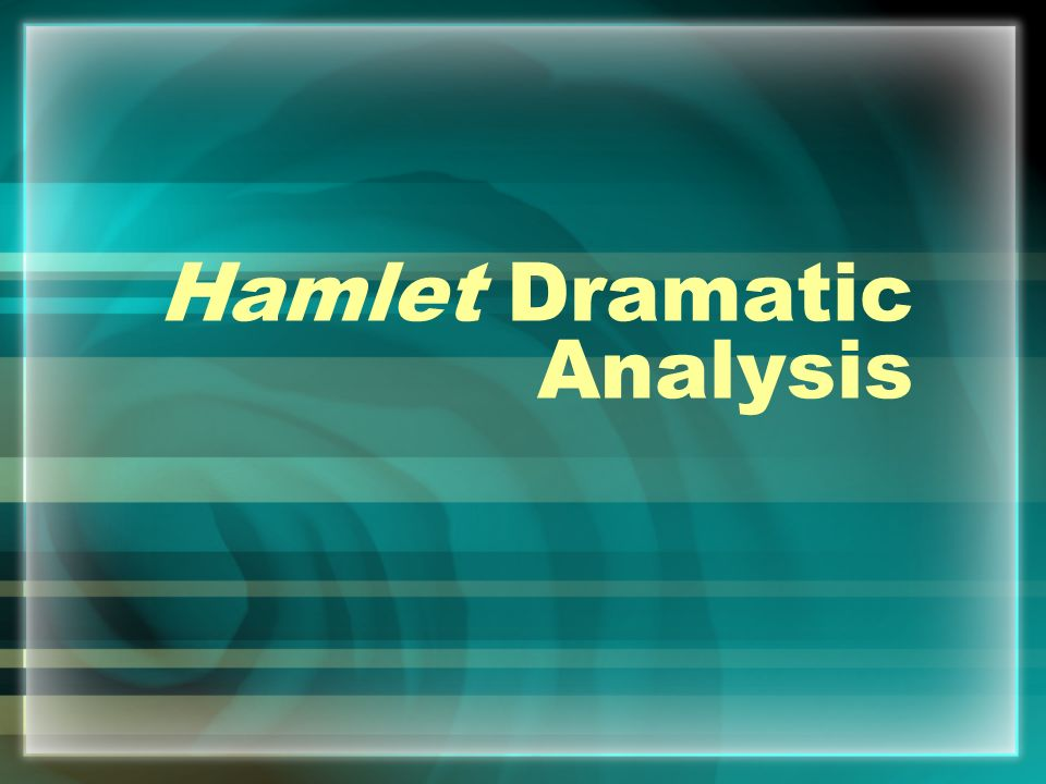 an analysis of hamlet ♦ the nature of hamlet's character ♦ hamlet's delay: an objective and subjective analysis compared ♦ analysis of three critical works on hamlet.