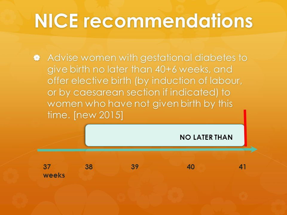 nice induction of labour guideline