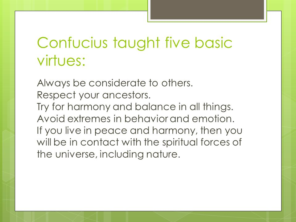 five virtues