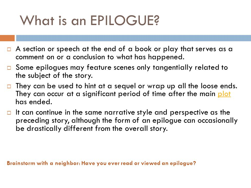 how to write an epilogue for an essay