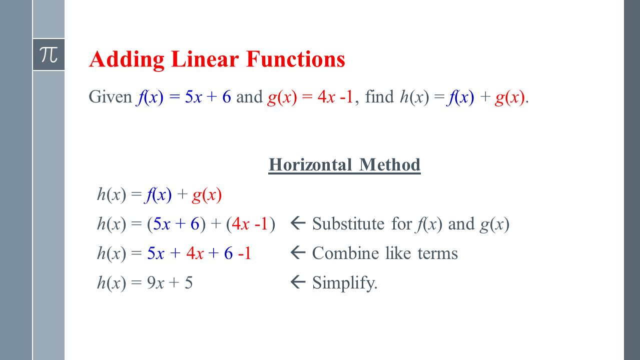 how to add linear and nonlinear functions