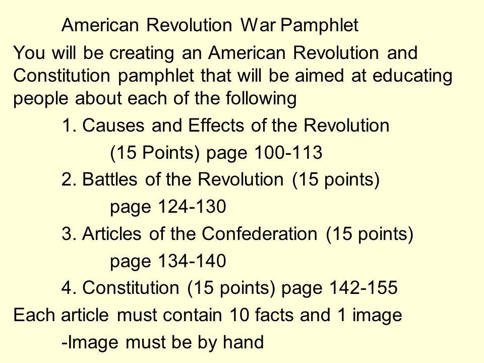 The American Revolution Ppt Video Online Download - American revolution facts