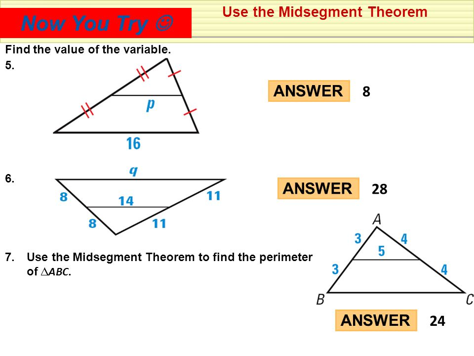 Midsegment Theorem Worksheet Answers Worksheets for all | Download ...