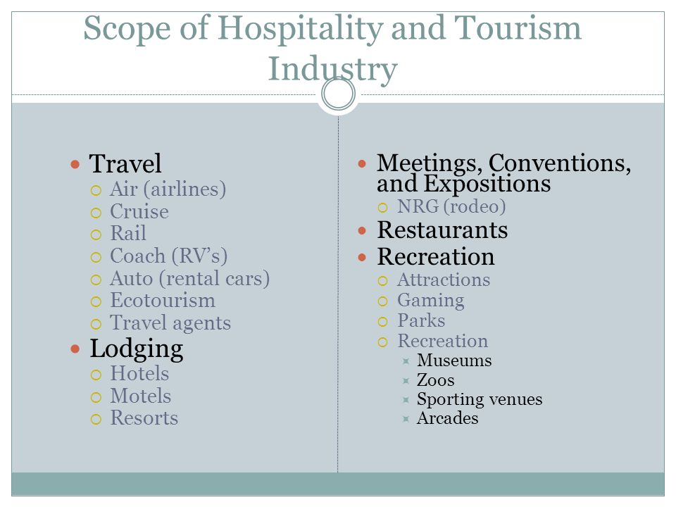 the hospitality and tourism industry tourism essay The findings provide practical information to hospitality and tourism managers in  terms of focusing on adequate strategies to achieve gender equality because.