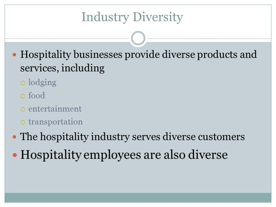 """diversity in hospitality industry The event hospitality & entertainment limited group (""""event"""") has a strong  that  diversity contributes to its business success and aspires to a workforce."""