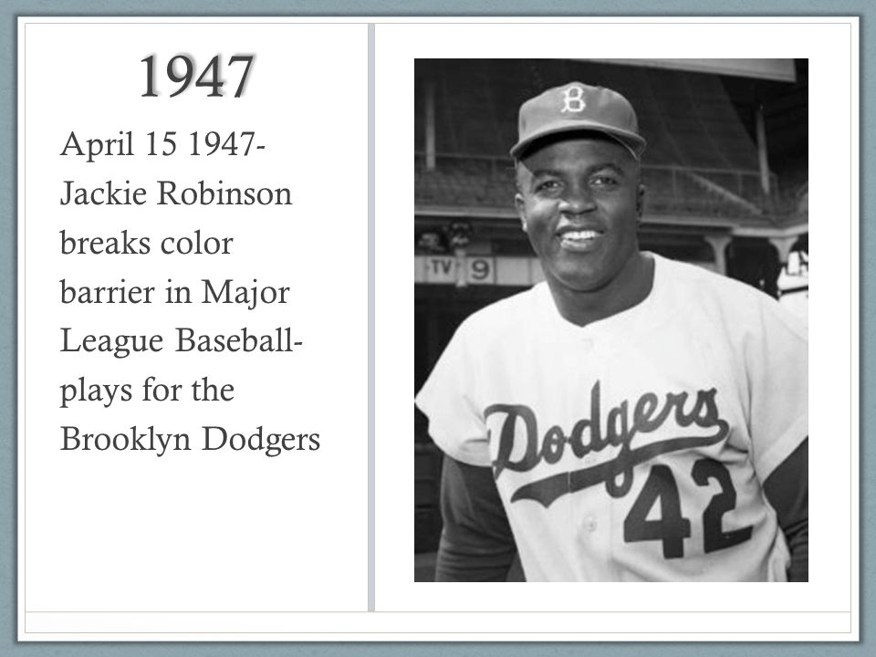 jackie robinson and the color barrier essay The tools you need to write a quality essay  jackie robinson  would help him become the first baseball player to break major league baseball's color barrier.