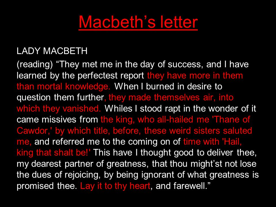audience response to macbeth In 1794, kemble dispensed with the ghost of banquo altogether, allowing the audience to see macbeth's reaction as his wife and guests see it, and relying upon the fact that the play was so well known that his audience would already be aware that a ghost enters at that point.