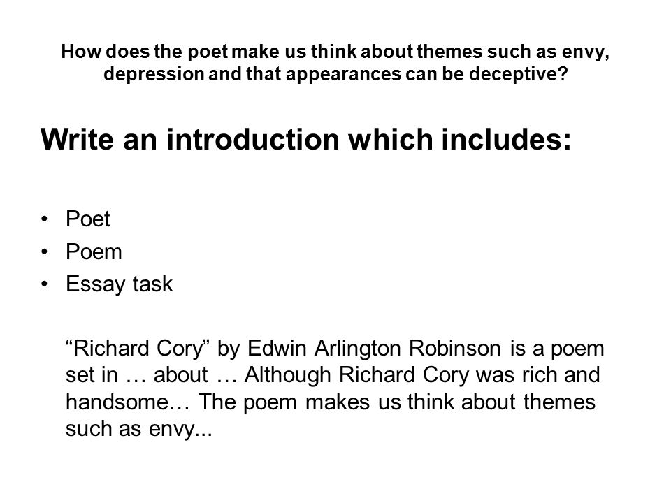 Arlington Robinsons poem Richard Cory - Essay Example
