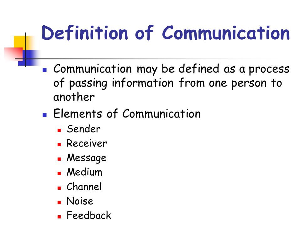 defination with communication