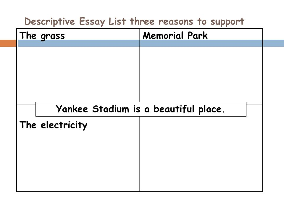 descriptive essay a day at memorial park essay Free essay: the mount rushmore national memorial park is one of the world's   essay on national parks  george washington, thomas jefferson, abraham  lincoln, and theodore roosevelt are names that still to this day trigger thoughts  of.