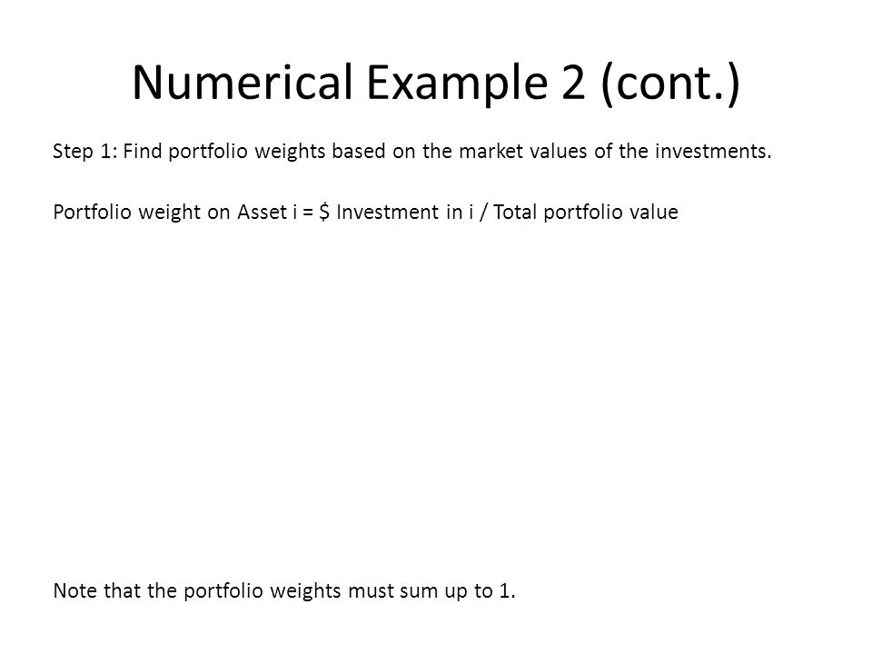 how to find portfolio weight with beta and expected return