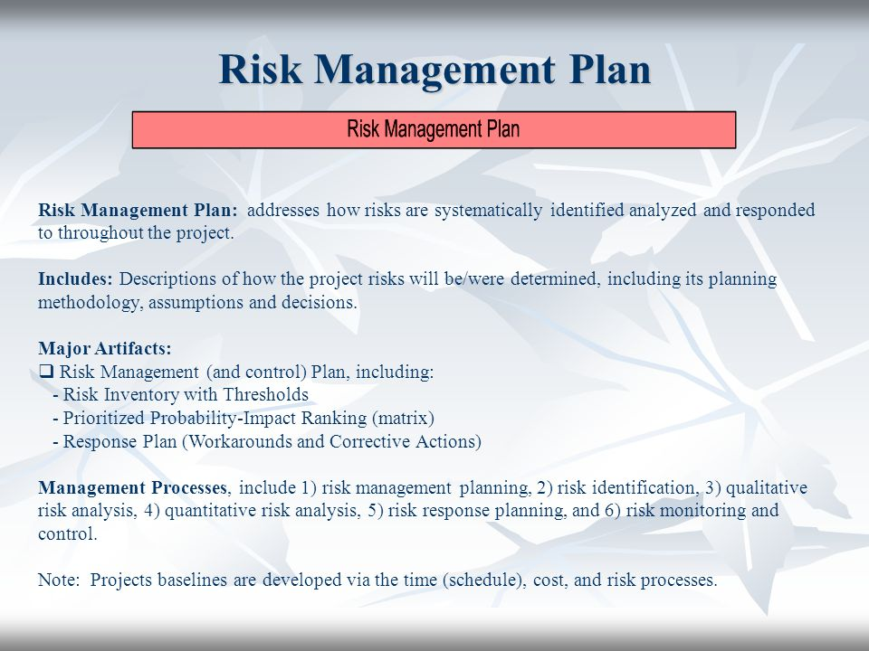 project risk planning Download our free risk management plan arm yourself with our risk management plan template and you'll be handling projects risk with no sweat if you only use one of.