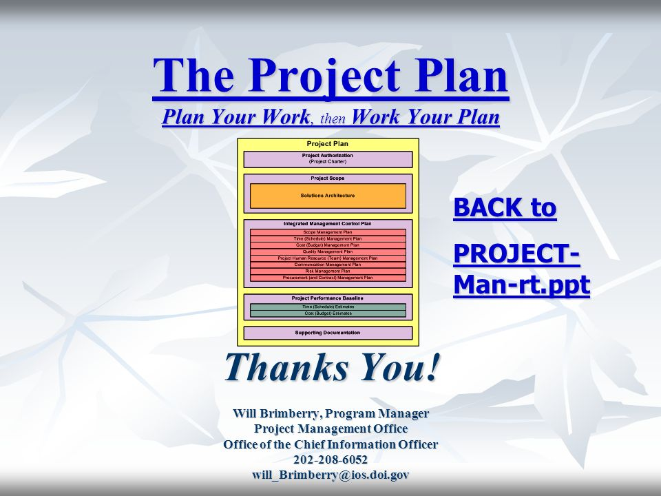 The Project Plan Plan Your Work Then Work Your Plan  Ppt Video