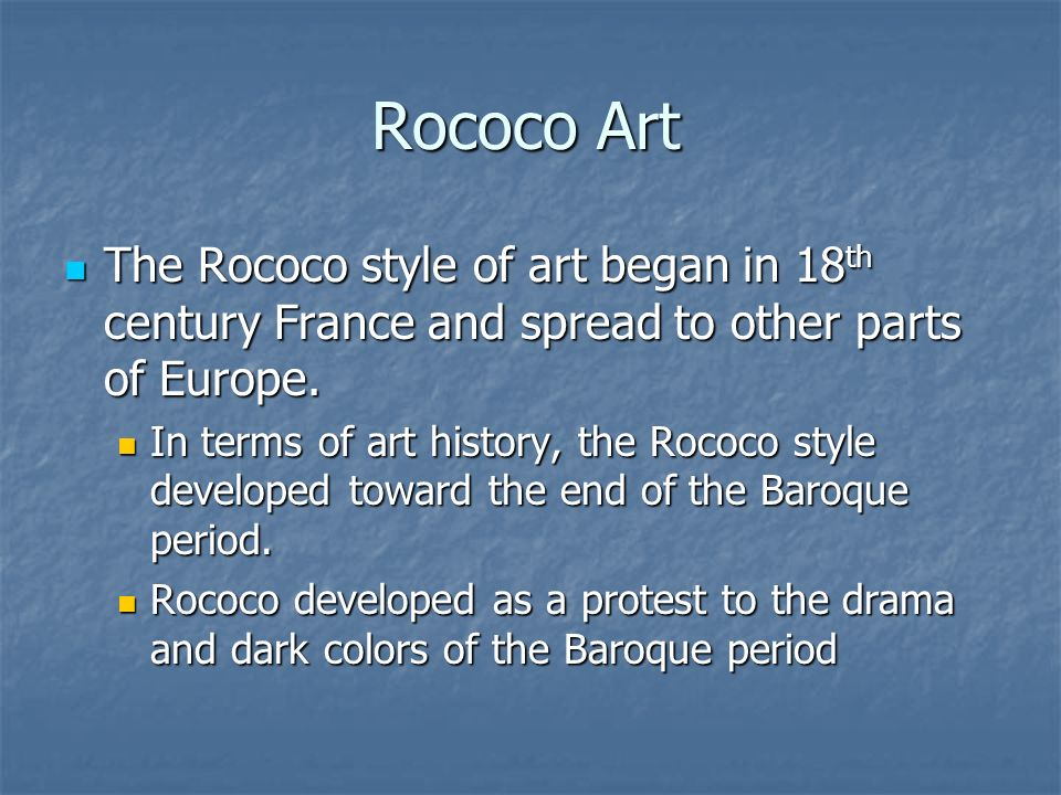 Rococo art ppt video online download for Characteristics of baroque period