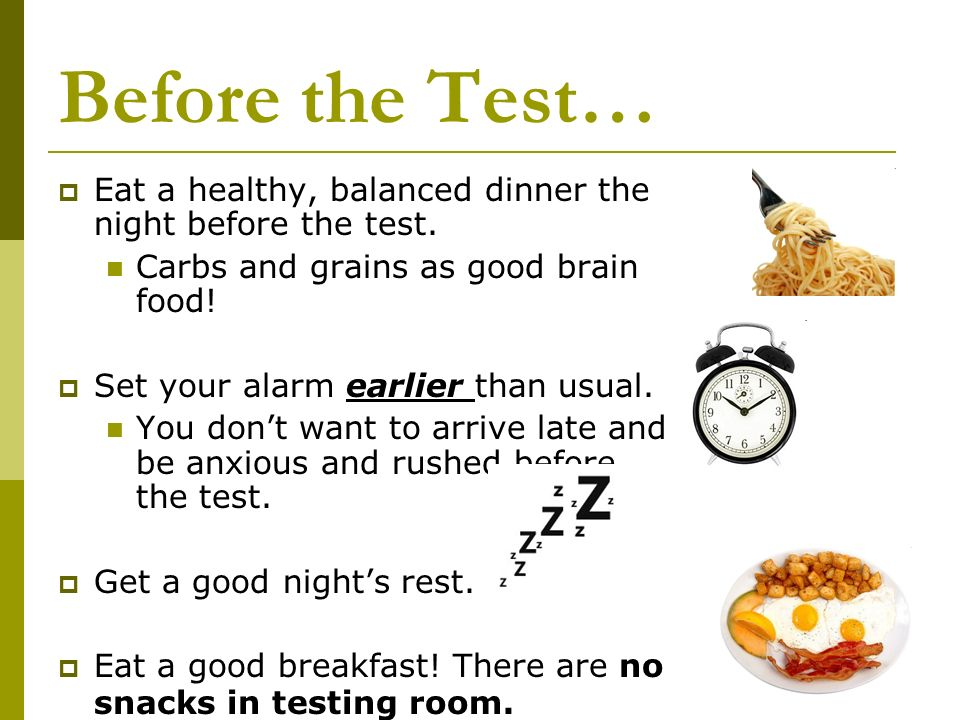 Good Brain Foods To Eat Before A Test
