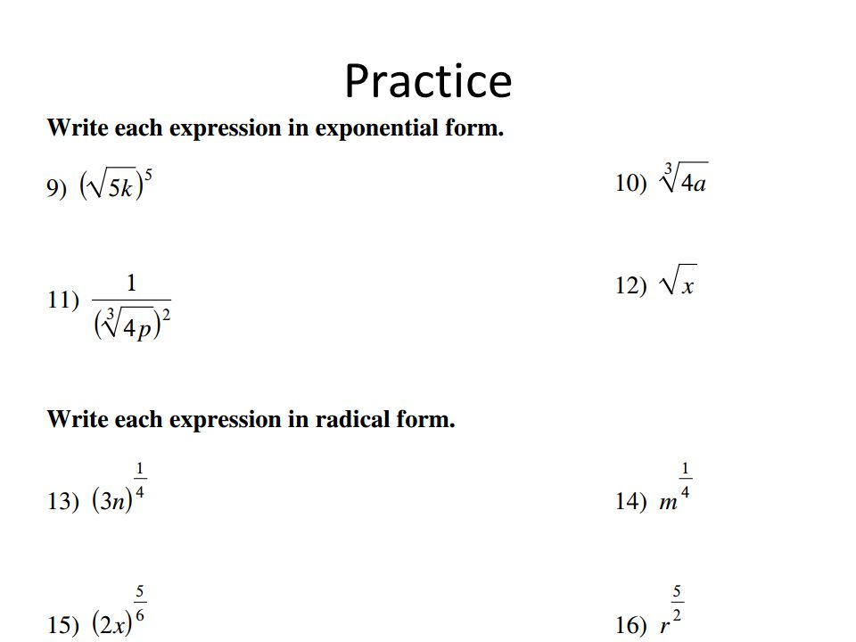 Rational Exponents March 2, ppt video online download
