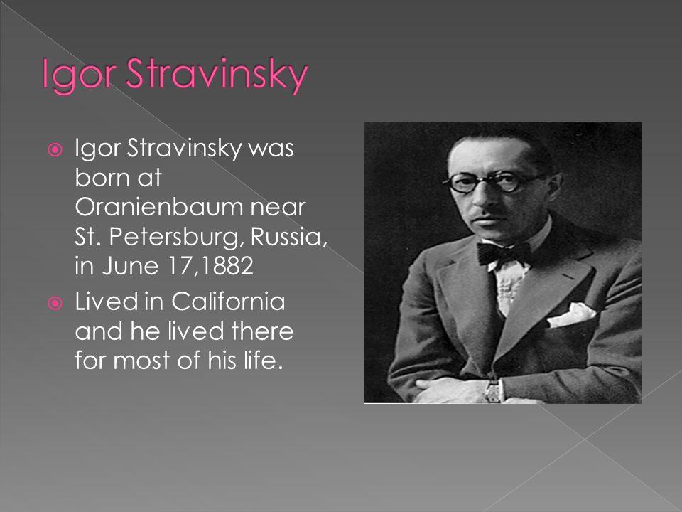 igor stravinsky essay