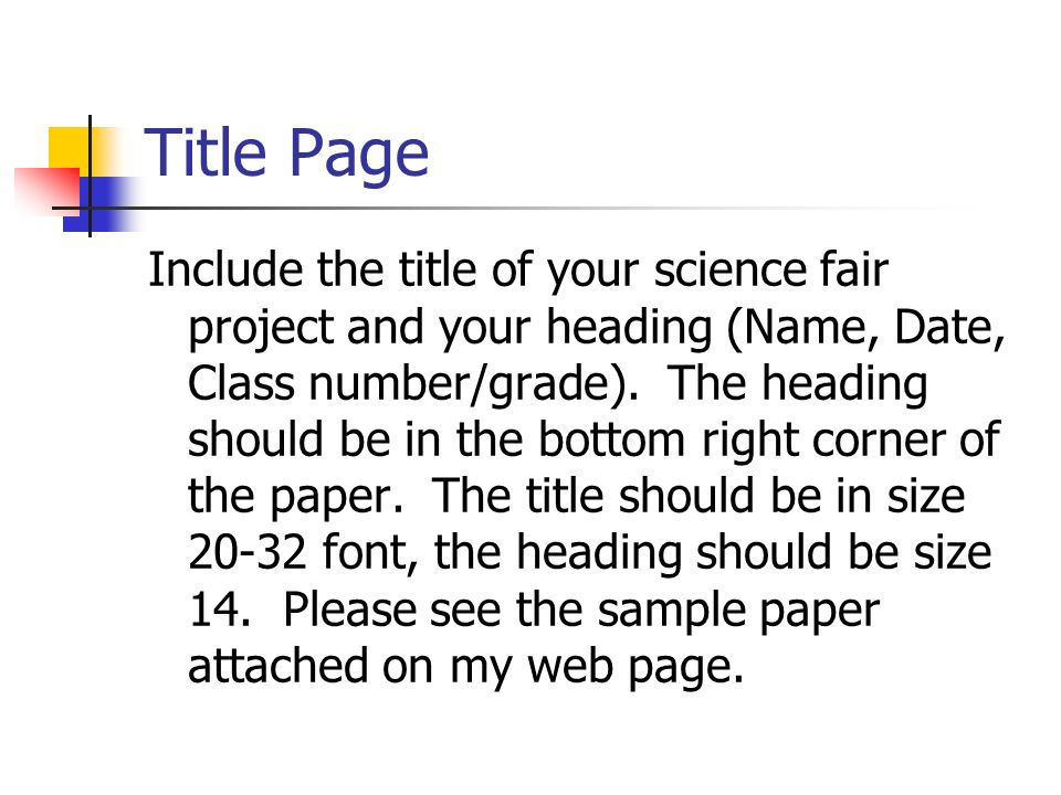 easy science fair research papers Tables in apa research papers science fair research paper help view all fundraising activity for each group and track progress, creating an easy audit trail detailed reports view and sort information about all current and past fundraisers at your school.