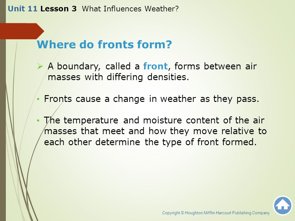 Unit 11 Lesson 3 What Influences Weather? - ppt download