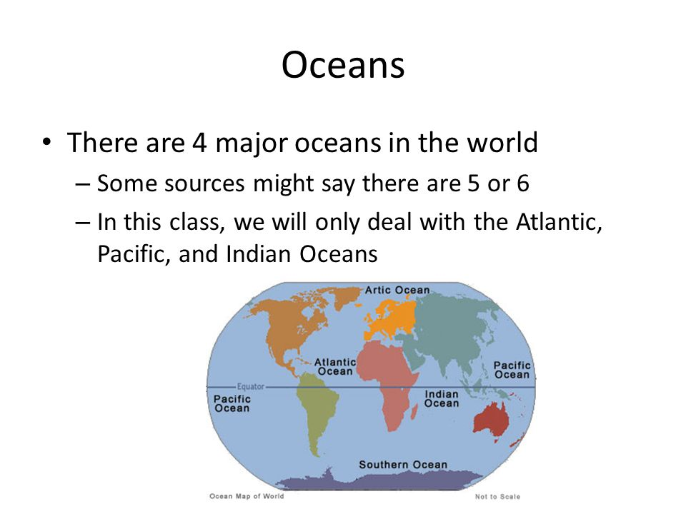 Geography Continents And Oceans Ppt Video Online Download - Major oceans of the world map