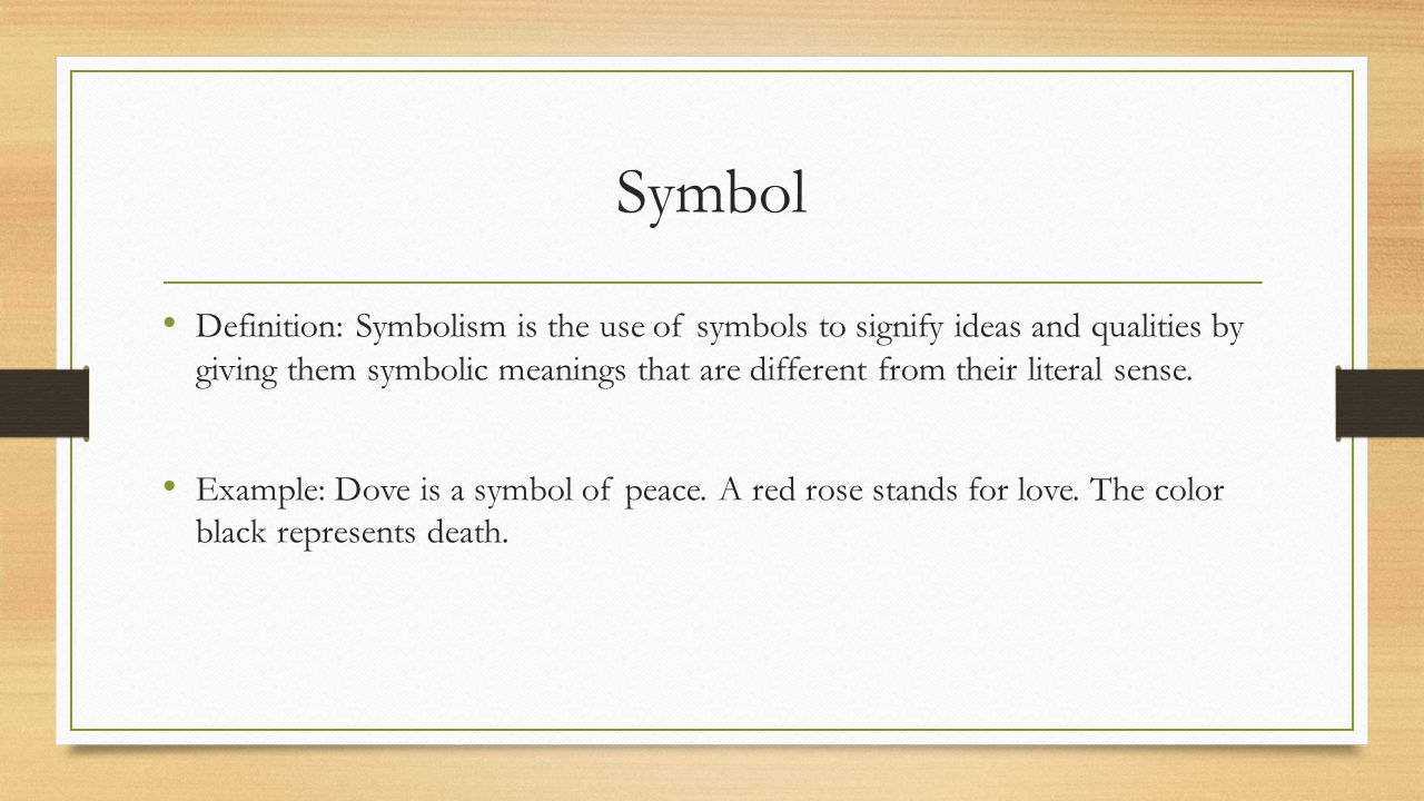 Poetic devices ppt download 19 symbol definition symbolism is the use biocorpaavc Choice Image