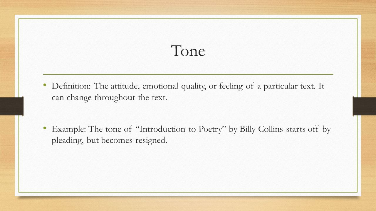 Symbols In The Poem Introduction To Poetry By Billy Collins