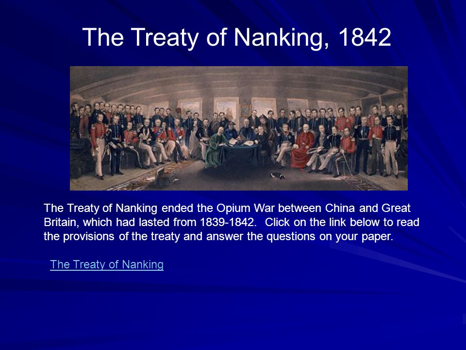 Talk:Treaty of Nanking