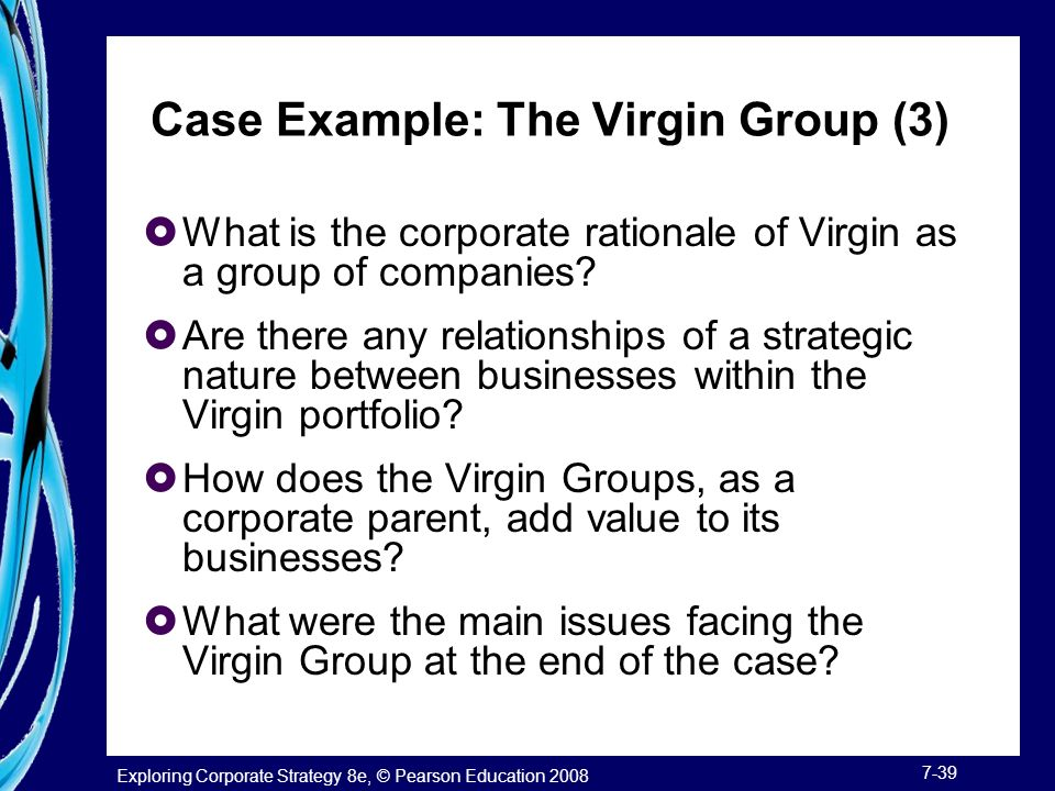 are there any relationships of a strategic nature between businesses within the virgin portfolio Business analysis technique:layout 1 1/19/10 9:38 am page x  advice  contained within this publication or by any of the aforementioned  one-to- many relationship between entities 212  there is little point in adopting  strategies that are dependent upon  industry is limited to products of a  particular nature: bags.