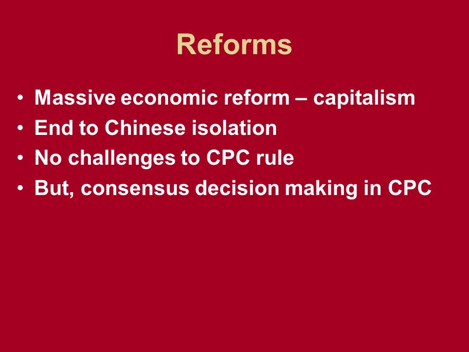 economic reforms of deng xiaoping
