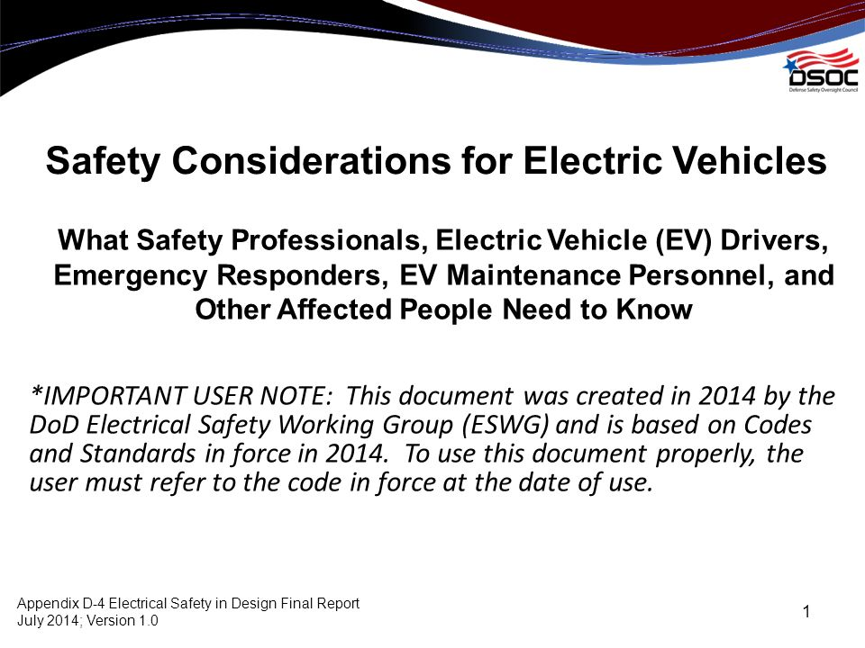 Safety Considerations for Electric Vehicles - ppt video online download