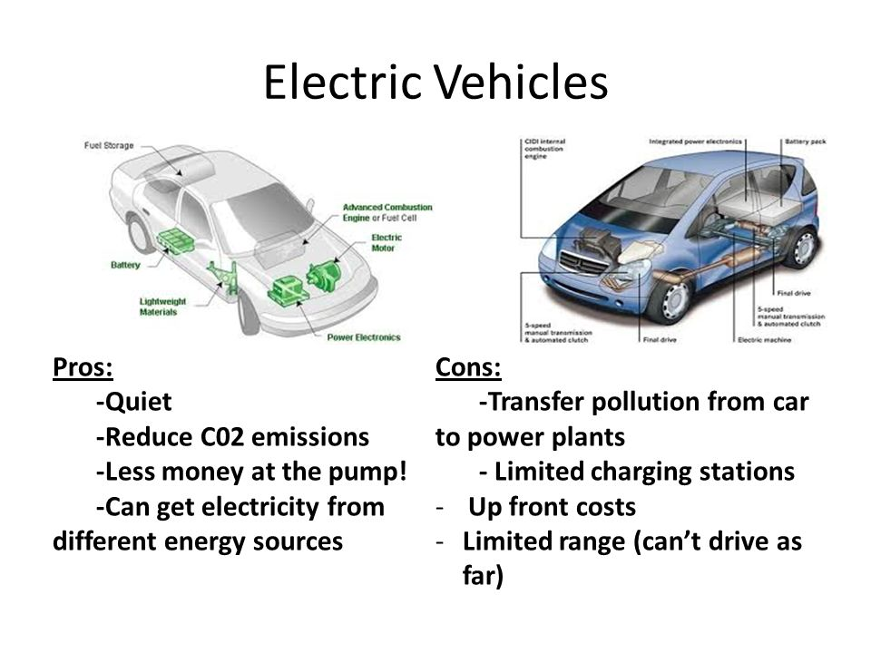 electric vehicles pro verses con essay Wondering about the pros and cons of hybrid cars use these charts to find out the advantages and disadvantages of hybrid, electric and natural gas cars.