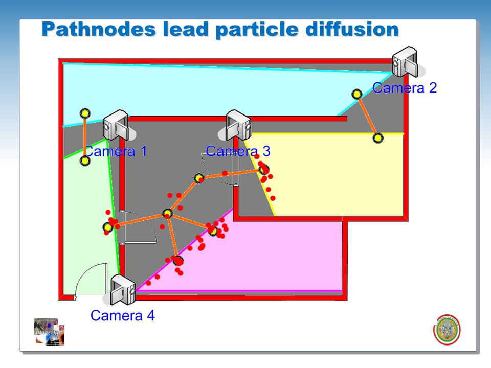 Pathnodes lead particle diffusion