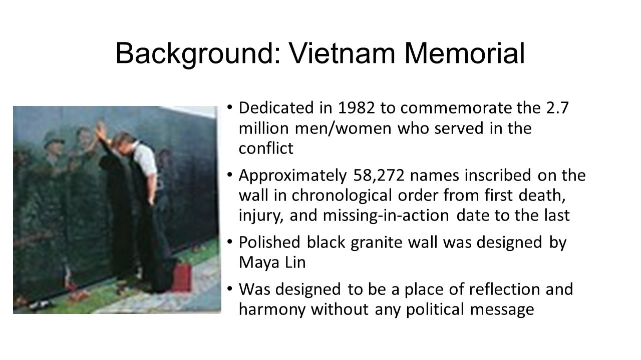 Who Designed The Vietnam Wall the black gash of shamerevisiting the vietnam veterans memorial controversy art21 magazine Background Vietnam Memorial
