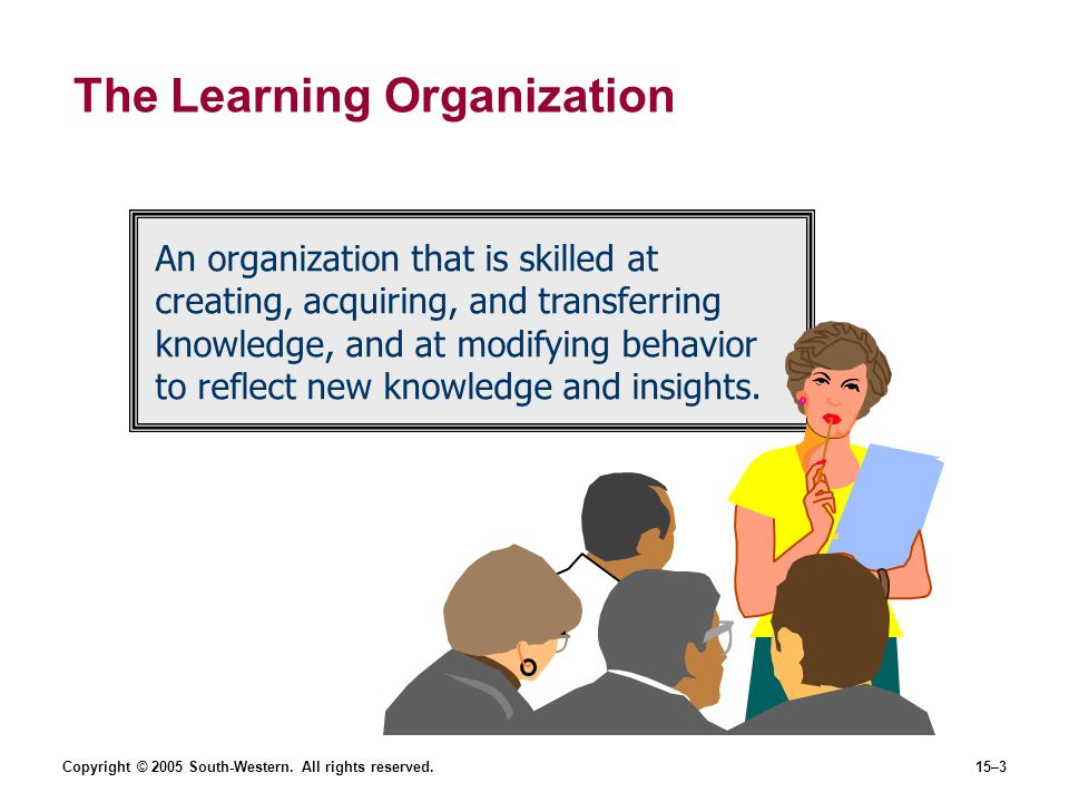 learning in the learning organization management essay When we wrote the editorial essay in the first issue of organization science (daft   after another, it is altogether clear that the management of organizations is   tion, learning organization, network organization, and perpetual matrix (miles and.