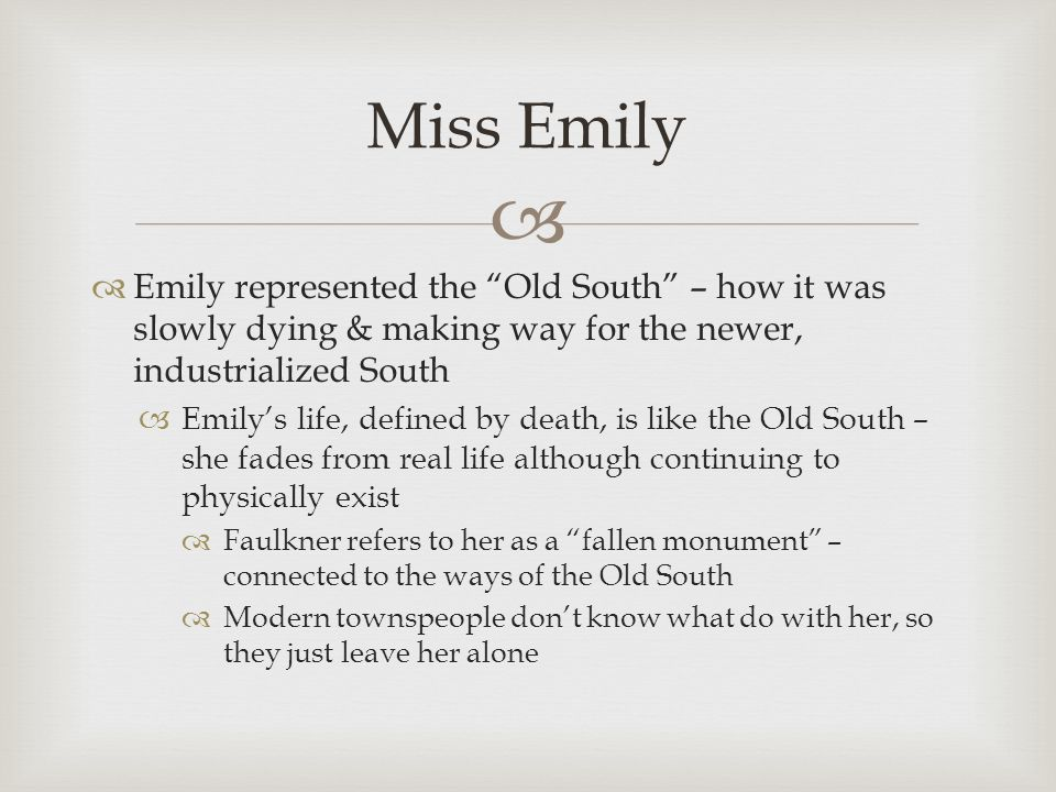 a rose for emily fallen from A rose for emily study guide by magniolivia includes 21 questions covering vocabulary, terms and more quizlet flashcards, activities and games help you improve your grades.