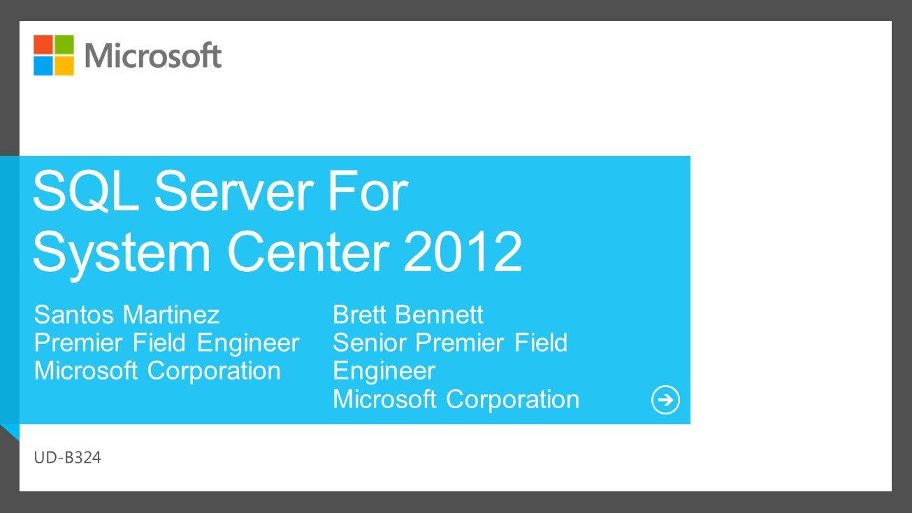 SQL Server For System Center 2012