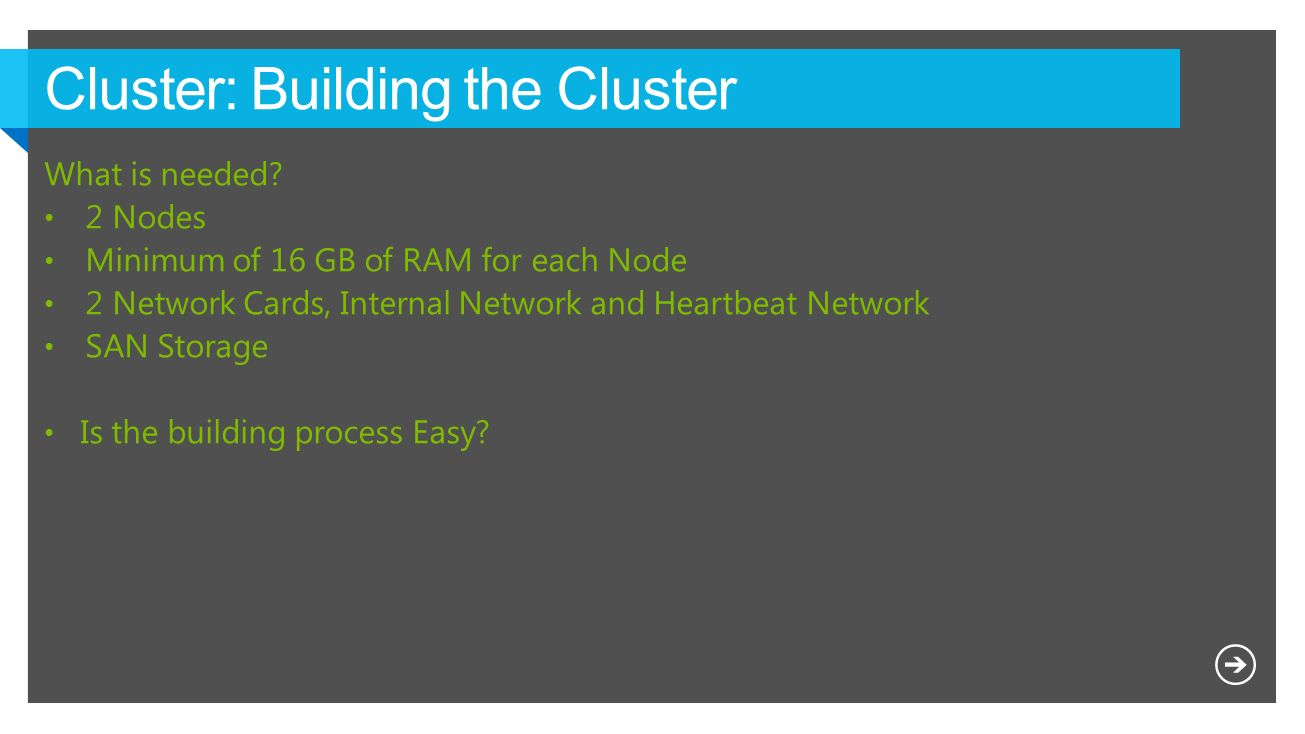 Cluster: Building the Cluster