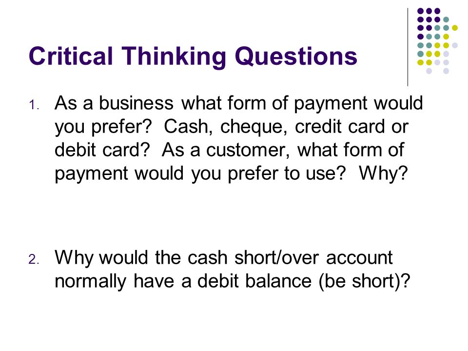 critical thinking questions accounting and finance This case is suitable for use in introductory and intermediate financial accounting com with any questions about access a case for critical thinking.