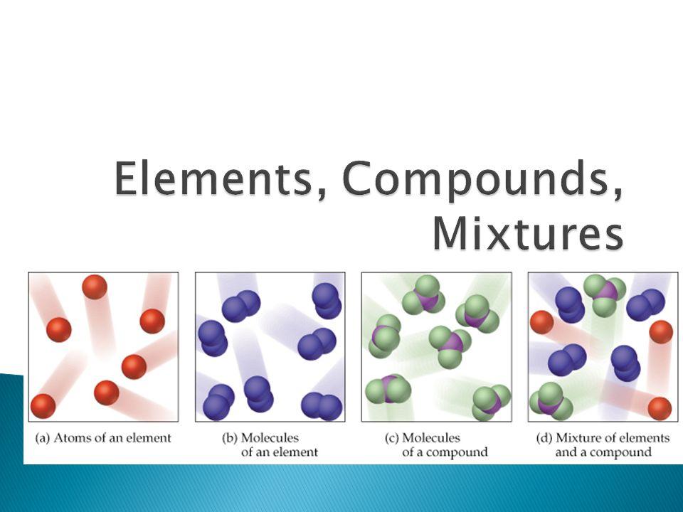 1 Elements Compounds Mixtures