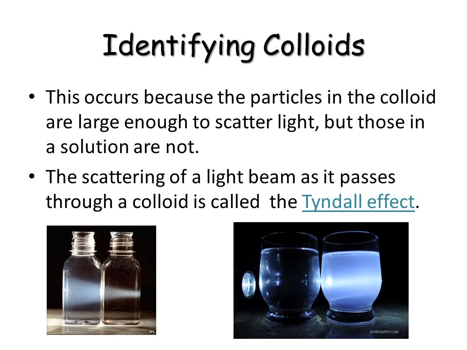 Colloid mixture