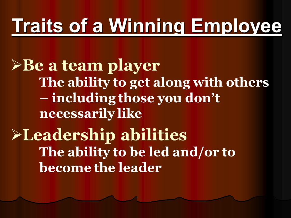 11 traits of a winning employee be a team player - Are You A Tram Player Ability To Work In A Team