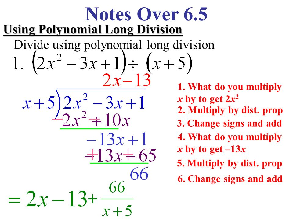 polynomial long division To divide a polynomial by a binomial of the form x - c using synthetic  if you  need a review on setting up a long division problem, feel free to go.