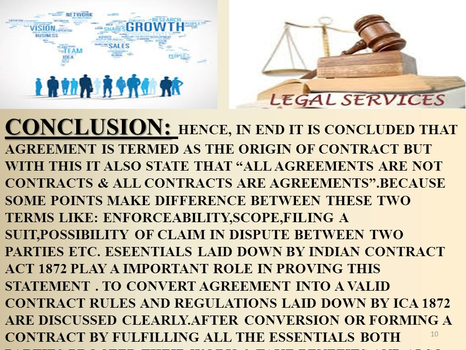 conclusion of valid contract Definition of valid contract: a contract that complies with all the essentials of a contract and is binding and enforceable on all parties.
